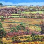 Nutley Windmill from Millbrook – East Sussex Artist Juliet Murray – Sussex Artists Gallery – Pastel Landscape Artist