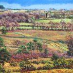 Nutley Windmill from Millbrook – East Sussex Artist Juliet Murray – Sussex Artists Gallery – Pastel Landscape Artist
