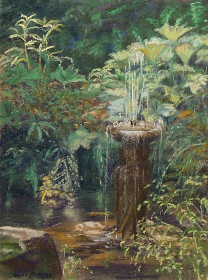 Old Quarry Garden Standen, East Sussex - Pastel Landscape Artist - Juliet Murray - Sussex Artists Gallery