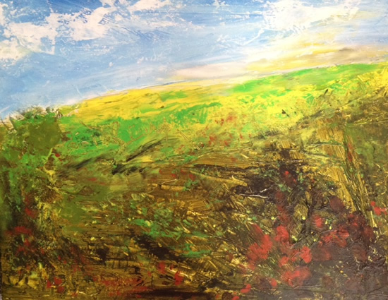 Over The Hills - Contemporary Landscape - East Sussex Artist Lin Chatfield - Sussex Artists Gallery