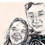 Portrait – Lois and Michael – Felicity MeachEm – West Sussex Fine Artist – Portraits in Oil