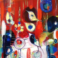 Summer Calling – West Sussex Artist – Emma Cooper – Acrylic and Mixed Media on Canvas – Sussex Artists Gallery