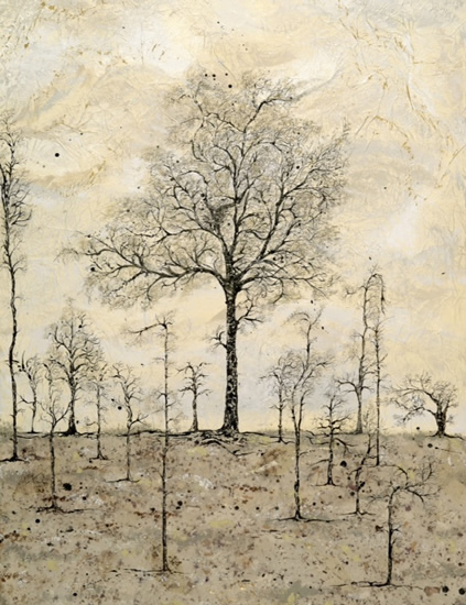 The Chestnut Tree - Fine Art Prints - West Sussex Artist - Bleau Shanay Hudson - Woodland Art - Sussex Artists Gallery