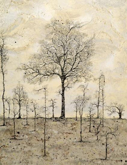 The Chestnut Tree - Fine Art Prints - West Sussex Artist - Bleau Shanay Hudson - Woodland Art - Sussex Artists Gallery