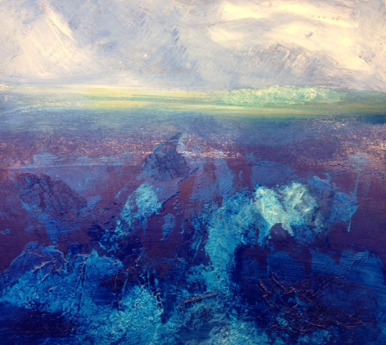 The Deep - Contemporary Landscape - East Sussex Artist Lin Chatfield - Sussex Artists Gallery