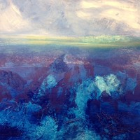 Contemporary Landscape - The Deep - Rutland Artist Lin Chatfield