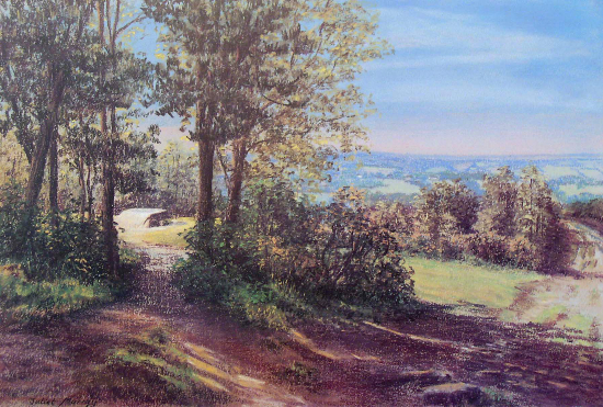 The Enchanted Place, Ashdown Forest, East Sussex - - Juliet Murray - Pastel Landscape Artist - Sussex Artists Gallery