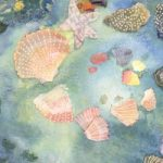 The Shell Garden, Ink and Mixed Media Collage – East Sussex Artist Nichola Campbell – Collages – Sussex Artists Gallery