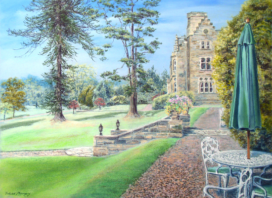The Terrace, Ashdown Park, East Sussex - Juliet Murray - East Sussex Artist - Sussex Artists Gallery