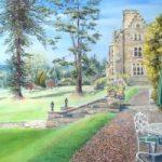 The Terrace, Ashdown Park, East Sussex – Pastel Landscape Artist Juliet Murray – East Sussex Artist – Sussex Artists Gallery