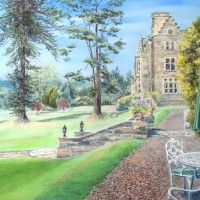 The Terrace, Ashdown Park, East Sussex – Pastel Landscape Artist Juliet Murray – East Sussex Artist – Sussex Artists Gallery