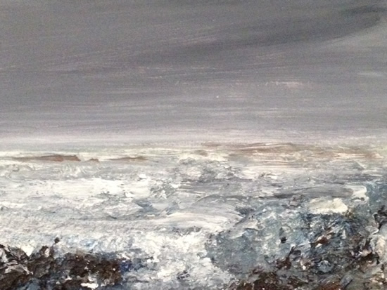Unquiet Sea - Contemporary Seascape - East Sussex Artist Lin Chatfield - Sussex Artists Gallery