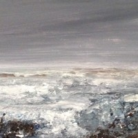 Unquiet Sea – Contemporary Seascape – East Sussex Artist Lin Chatfield – Sussex Artists Gallery