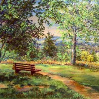 View from Bert Tyler's Bench, Ashdown Forest, East Sussex – Pastel Landscape Artist – Juliet Murray – Sussex Artists Gallery
