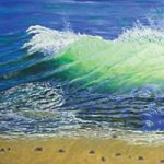 Wave – Oil Painting – West Sussex Artist Tom Gillings – Sussex Artists Gallery