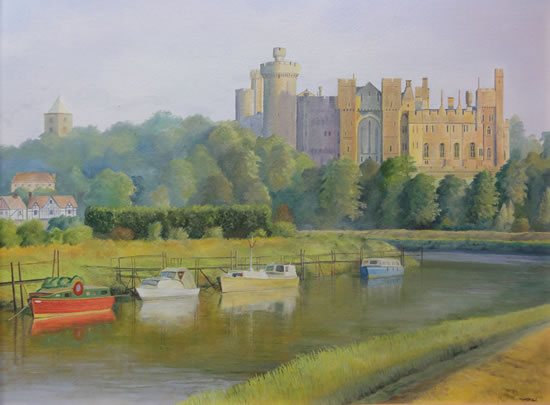 Arundel Castle - West Sussex - Daniele Mandelli - Painter of Oils - Merton Art Society - Surrey Art Gallery