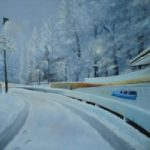 Austria – Egles – Snow Scene Bobsleigh – East Sussex Artist – 'Fro' (Derek Froggatt) – Wannock Artists