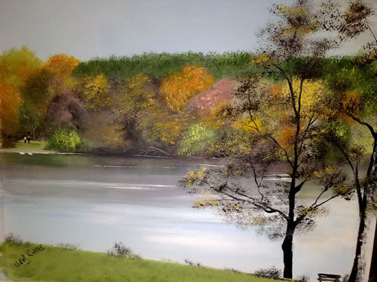 Autumn At Tilgate - Jenny Rabie - Crawley, West Sussex Artist - Sussex Artists Gallery