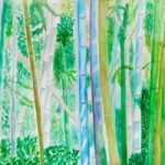 Bamboo Forest in Kyoto – Watercolour – Patsy Dinc – Sussex Artists Gallery – Glass Painting and Watercolour Artist