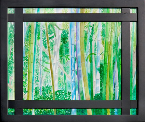 Bamboo Forest in Kyoto - Watercolour - Patsy Dinc - Sussex Artists Gallery - Glass Painting and Watercolour Artist