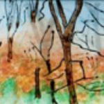 Beauty in Every Season – Watercolour Painting On Glass – Patsy Dinc – Sussex Artists Gallery – Glass Painting and Watercolour Artist