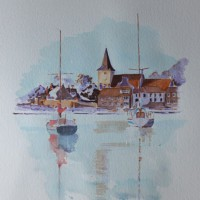 Art Gallery – Bosham Harbour & Church Painting 1 West Sussex