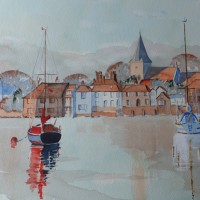 Bosham Harbour and Church Sussex Art - David Harmer