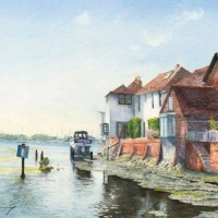 Bosham Harbour – West Sussex – Painting by Surrey Artist David Drury