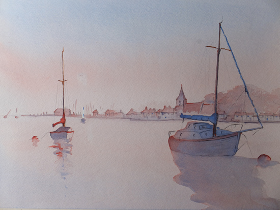 Bosham Sussex Sunset Art Gallery - Surrey Art Gallery