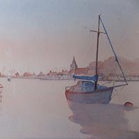 Art Gallery – Sunset at Bosham Near Chichester West Sussex