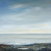 Calm Sea - The Pool - Acrylic Painting - member of Free Painters and Sculptors Art Group - Leila Godden