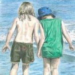 Searching on the Beach – Painting by Surrey Artist Linda Brand