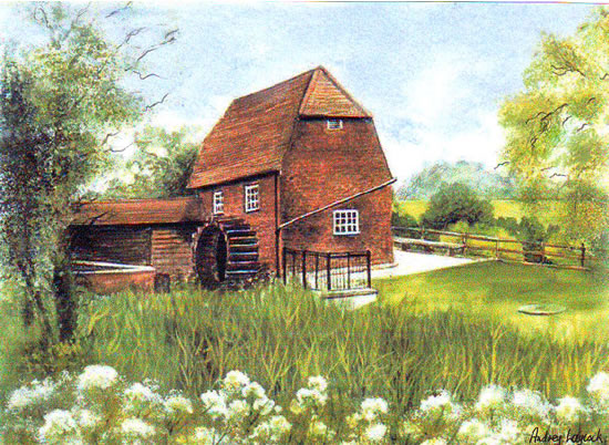 Cobham Mill, Surrey - Fine Art Prints - Sussex Artist - Audrey Laycock - Watercolour Gallery