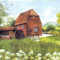 Cobham Mill, Surrey – Fine Art Prints – Sussex Artist – Audrey Laycock – Watercolour Gallery
