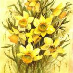 Daffodils – Floral Art Prints – Sussex Artist – Audrey Laycock – Watercolour Gallery