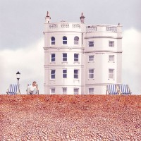 Deckchairs on Brighton Beach - East Sussex Art Gallery