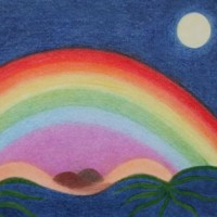 Dreamscape – Rainbow – Claudine Péronne – Sussex Artists Gallery – Drawings in Pastel and Watercolour Pencil – West Sussex Art Society