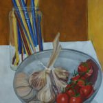 Still Life – Garlic & Tomatoes – Sussex Art Gallery