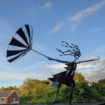 Girl with Umbrella Painted Steel Sculpture – Pulborough Sculptor Željko Ivanković