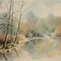 Gracious Pond, Chobham, Surrey – Fine Art Prints – Sussex Artist – Audrey Laycock – Watercolour Gallery