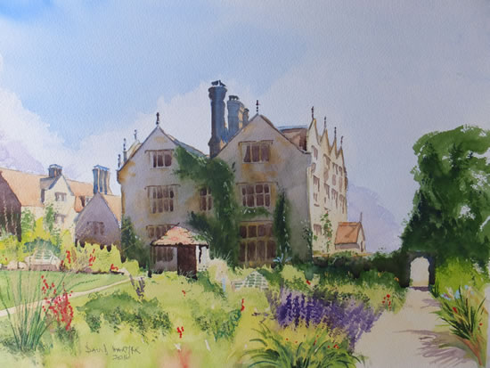 Gravetye Manor Hotel, East Grinstead Commissioned Painting - East Sussex Art Gallery