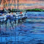 Harbour Sunset – Artist Ali Woolgar – Coast Art Gallery