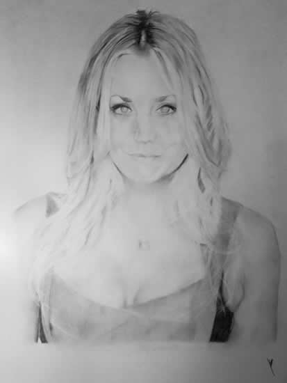 Kaley Cuoco Portrait - Jamie Sexton - Portrait Artist - Sussex Artists - Gallery