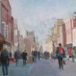 Chichester – Busy Street – Margaret Harvey – West Sussex Art Gallery