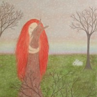 Longing – Claudine Péronne – Sussex Artists – Drawings in Pastel and Watercolour Pencil – Shoreham Gallery
