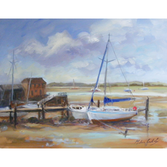 Chichester - Low Tide, Dell Quay - West Sussex Art Gallery