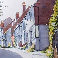 Mermaid Street, Rye Painting – East Sussex Art Gallery