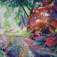 Pathway at Ramster Gardens Chiddingfold - Farnham Art Gallery