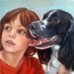 Portrait Painting of Child & Dog – Art by Colette Simeons