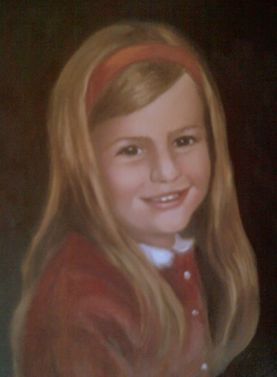 Portrait Painting of Girl by Sussex Artist Colette Simeons